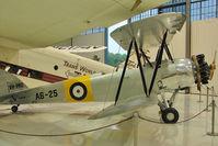 N643AV - 1938 Avro International Aeros 643 MK II CADET, c/n: 1060 at Flight of Fantasy Museum with markings VH-PRU and A6-25