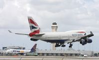 G-CIVJ @ MIA - British 747-400