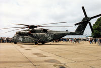 163057 @ MHZ - MH-53 of HC-4 based at NAS Sigonella on display at the 1995 RAF Mildenhall Air Fete. - by Peter Nicholson
