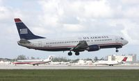 N457UW @ MIA - US Airways 737-400
