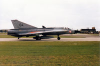 04 @ WTN - Saab Draken of the Austrian Air Force on detachment to RAF Waddington in May 1995 taxying to the active runway. - by Peter Nicholson