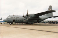 64-0502 @ MHZ - C-130E Hercules of Ramstein's 86th Airlift Wing on display at the 1995 RAF Mildenhall Air Fete. - by Peter Nicholson