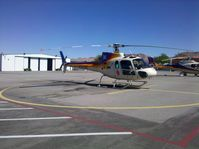 N197AE @ BVU - Papillon Helicopter parked awaiting tourists going to view the Las Vegas area.