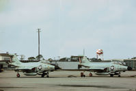 58-0320 @ PAM - F-101B Voodoo with companion 57-0283 at Tyndall AFB in November 1979. - by Peter Nicholson