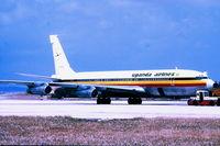 5X-UAC @ LMML - B707 5X-UAC Uganda Airlines - by raymond