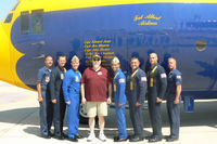 164763 @ NFW - At the 2011 Air Power Expo - NAS Fort Worth Warbird Radio media ride photos.  Yours truly and the fine Blue Angels crew of Fat Albert! - by Zane Adams