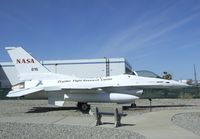 N816NA - General Dynamics F-16A Fighting Falcon outside the main gates of the Lockheed plant, Palmdale CA