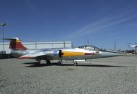 N812NA - Lockheed F-104N Starfighter outside the main gates of the Lockheed plant, Palmdale CA