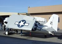 N86572 @ KCNO - Grumman (General Motors) FM-2 (F4F) Wildcat visiting for a lecture and flight demonstration at the Planes of Fame Museum, Chino CA - by Ingo Warnecke