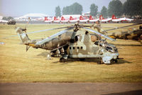 0703 @ EGVA - Mi-24V Hind E helicopter gunship of 331 Squadron Czech Air Force on display at the 1996 Royal Intnl Air Tattoo at RAF Fairford. - by Peter Nicholson