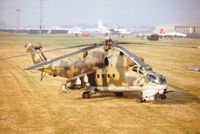 0710 @ EGVA - Hind E helicopter gunship of 331 Squadron Czech Air Force at the 1996 Royal Intnl Air Tattoo at RAF Fairford. - by Peter Nicholson