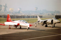 69-4005 @ EGVA - NF-5B Freedom Fighter of the Turkish Stars aerobatic team on the flight-line of the 1996 Royal Intnl Air Tattoo at RAF Fairford. - by Peter Nicholson