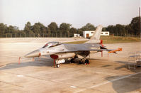 J-511 @ EGVA - F-16A Falcon of 306 Squadron of the Royal Netherlands Air Force on the flight-line at the 1996 Royal Intnl Air Tattoo at RAF Fairford. - by Peter Nicholson