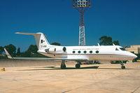 7T-VRB @ LMML - GulfstreamII 7T-VRB Algerian Govt - by raymond