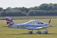 G-TECI @ EGHR - Lining up for runway 24 - by John Richardson