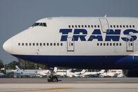 VP-BVR @ MIA - Transaero 747