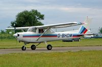 G-BHDM @ EGBP - R/Cessna F.152 [1684] Kemble~G 10/07/2004 - by Ray Barber