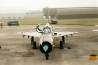 7714 @ EGVA - MiG-21MF Fishbed J of 1 SLP Slovak Air Force on the flight-line at the 1994 Intnl Air Tattoo at RAF Fairford. - by Peter Nicholson