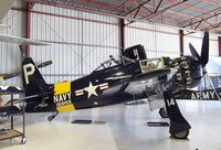N14WB @ KCNO - Grumman F8F-2 Bearcat at the Planes of Fame Air Museum, Chino CA