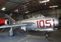 N87CN @ KCNO - Mikoyan i Gurevich MiG-15 FAGOT at the Planes of Fame Air Museum, Chino CA