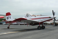 N802GB @ MWL - Single Engine Air Tanker in Texas for the Possum Kingdom Fire - At Mineral Wells Airport
