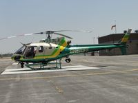 N953LA @ POC - Firing up to leave on a call - by Helicopterfriend