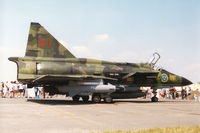 37908 @ EGVA - SH 37 Viggen of F15 Wing of the Royal Swedish Air Force on display at the 1996 Royal Intnl Air Tattoo at RAF Fairford. - by Peter Nicholson