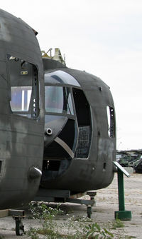 82-23766 - One of two Chinook noses on display at the Russell Military Museum - by Daniel L. Berek