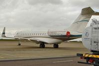 VQ-BJA @ EGGW - 2007 Bombardier BD-700-1A10, c/n: 9268 at Luton