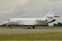 LX-ATD @ EGGW - Dassault Falcon 2000DX, c/n: 603 at Luton