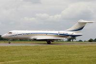 VP-CWN @ EGGW - Bombardier BD-700, c/n: 9321 at Luton