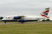 OY-NCN @ EGGW - Sun Air charter with 2001 Fairchild Dornier 328-310 JET, c/n: 3193 at Luton