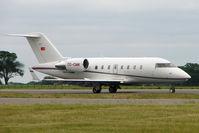 TC-CMK @ EGGW - 2008 Bombardier CL-600-2B16, c/n: 5767
