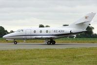 EC-KPP @ EGGW - Dassault Aviation Falcon 100, c/n: 209 at Luton