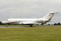 TC-KRM @ EGGW - 2008 Bombardier BD-700-1A11 Global 5000, c/n: 9318 at Luton