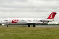 D-AOLH @ EGGW - OLT 1990 Fokker 100 (F28-0100), c/n: 11452 at Luton