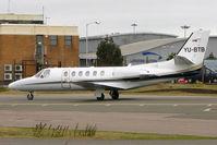YU-BTB @ EGGW - Cessna 550, c/n: 550-1037 at Luton