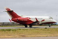 LY-DSK @ EGGW - Attractive  , Lithuanian registered ,  Raytheon Hawker 850XP, c/n: 258811 at Luton