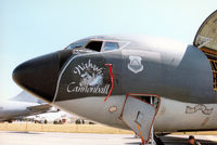 63-8023 @ EGVA - KC-135R Stratotanker named Wabash Cannonball of RAF Mildenhall's 100th Air Refuelling Wing on display at the 1996 Royal Intnl Air Tattoo at RAF Fairford. - by Peter Nicholson