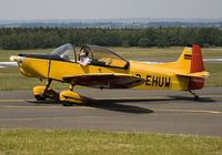 D-EHUW @ EBSP - Taxiing to the parking stand after landing. - by Philippe Bleus