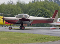 55PQ @ EBSP - Plane being moved from regular parking stand to flying club stand. - by Philippe Bleus