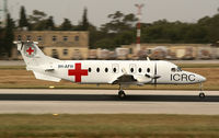 9H-AFH @ LMML - RED CROSS (MEDAVIA) - by frankiezahra