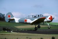 LY-AFQ - display of the Yak team at the Hilzingen 'Oldtimertreffen'. This aircraft was w/o in 2004.