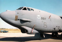 60-0017 @ EGVA - Another view of the B-52H Stratofortress of Barksdale AFB's 11th Bomb Squadron/2nd Bomb Wing on display at the 1996 Royal Intnl Air Tattoo at RAF Fairford. - by Peter Nicholson