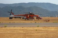 N247AC @ KIZA - Waiting for a fire at Santa Ynez - by Nick Taylor Photography