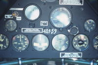 N332CA @ KDPA - Instrument panel of rear cockpit.