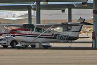 N8752X @ VGT - 1961 Cessna 182D, c/n: 18253152 in the shade at North Las Vegas