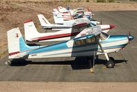 N9219C @ BVU - 1955 Cessna 180, c/n: 31318 at Boulder City