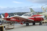 N91163 @ KCMA - North American Navion at the Commemorative Air Force Southern California Wing's WW II Aviation Museum, Camarillo CA