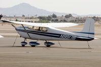 N9917B @ VGT - 1957 Cessna 182, c/n: 34317 at North Las Vegas